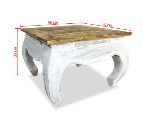 vidaXL Šoninis staliukas, masyvi perdirbta mediena, 50x50x35cm[4/4]