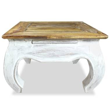 vidaXL Šoninis staliukas, masyvi perdirbta mediena, 50x50x35cm[2/4]