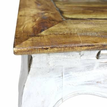 vidaXL Šoninis staliukas, masyvi perdirbta mediena, 50x50x35cm[3/4]
