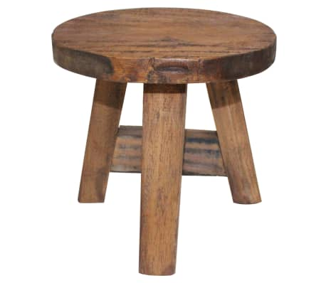 vidaXL Stool Solid Reclaimed Wood