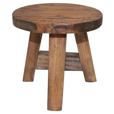 "vidaXL Stool Solid Reclaimed Wood 7.9""x7.9""x9.1""[1/3]"