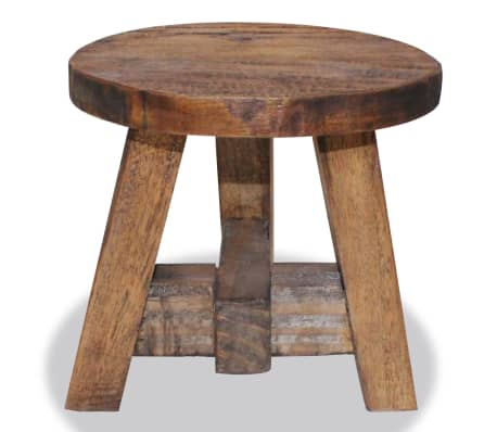 "vidaXL Stool Solid Reclaimed Wood 7.9""x7.9""x9.1""[2/3]"