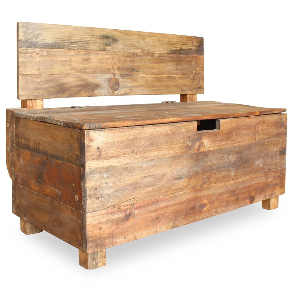 vidaXL Bancă din lemn reciclat de esență tare, 86 x 40 x 60 cm poza vidaxl.ro