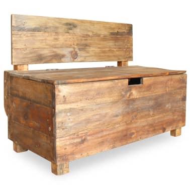 "vidaXL Bench Solid Reclaimed Wood 33.9""x15.7""x23.6""[1/11]"