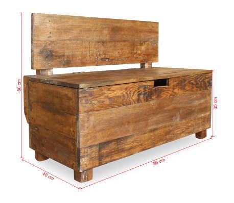 vidaXL Klupa Masivno Obnovljeno Drvo 86x40x60 cm[11/11]