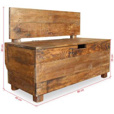 "vidaXL Bench Solid Reclaimed Wood 33.9""x15.7""x23.6""[11/11]"