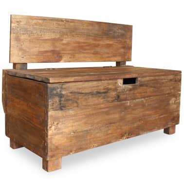 "vidaXL Bench Solid Reclaimed Wood 33.9""x15.7""x23.6""[4/11]"