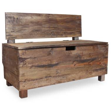 "vidaXL Bench Solid Reclaimed Wood 33.9""x15.7""x23.6""[5/11]"