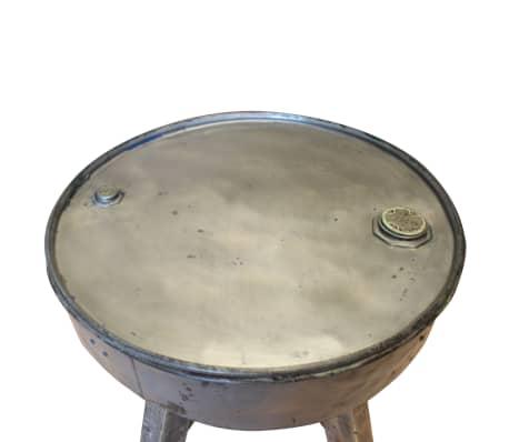 vidaXL Soffbord i massivt återvunnet trä 60x45 cm silver[3/8]