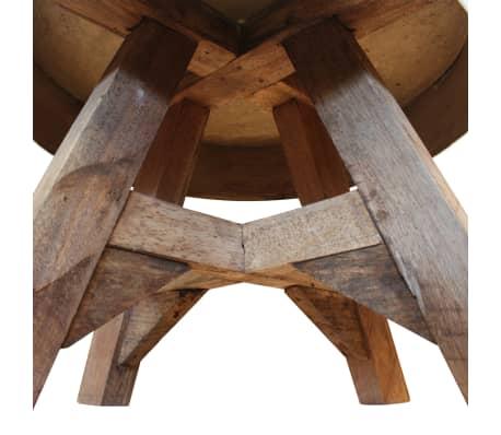 vidaXL Soffbord i massivt återvunnet trä 60x45 cm silver[6/8]