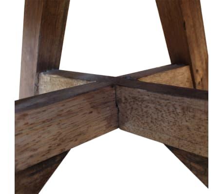 vidaXL Soffbord i massivt återvunnet trä 60x45 cm silver[7/8]