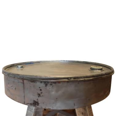 vidaXL Soffbord i massivt återvunnet trä 60x45 cm silver[4/8]