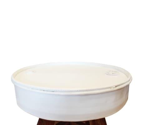 vidaXL Konferenční stolek, masivní recyklované dřevo, bílý, 60x45cm[3/8]