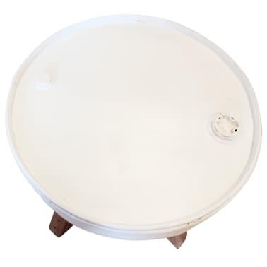 vidaXL Konferenční stolek, masivní recyklované dřevo, bílý, 60x45cm[5/8]
