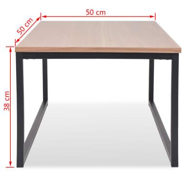 vidaXL Table basse 3 pcs Bois de frêne[9/9]