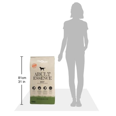 vidaXL suņu sausā barība, Adult Essence Beef, Premium, 15 kg[9/9]