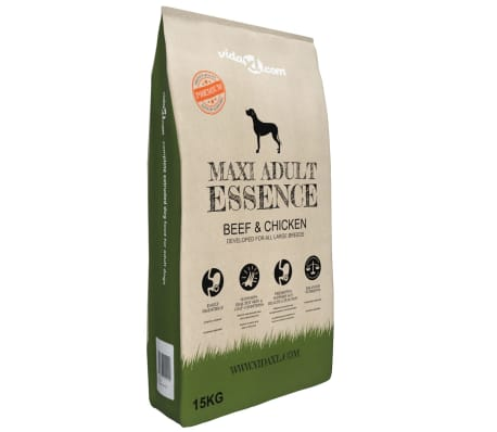 vidaXL Nourriture sèche chiens Maxi Adult Essence Beef & Chicken 15 kg