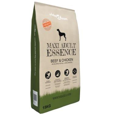 vidaXL Premium hondenvoer droog Maxi Adult Essence Beef & Chicken 15 kg[1/9]