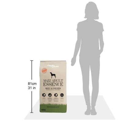 vidaXL Premium hondenvoer droog Maxi Adult Essence Beef & Chicken 15 kg[9/9]