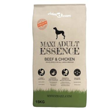 vidaXL Premium hondenvoer droog Maxi Adult Essence Beef & Chicken 15 kg[2/9]