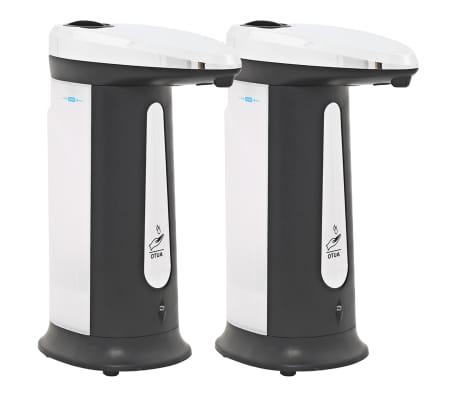 vidaXL Automat. muilo dozatoriai, 2vnt., infrar. spind. jut., 800ml[2/10]