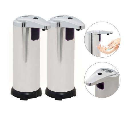 vidaXL Automatischer Seifenspender 2 Stk. Infrarot-Sensor 600 ml[1/9]