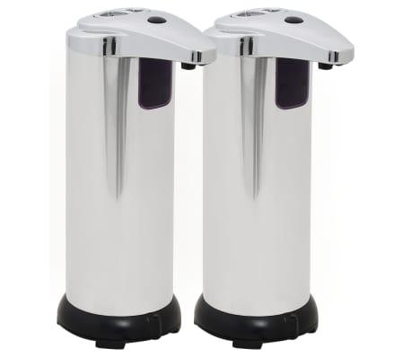 vidaXL Distributeur automatique de savon 2 pcs Capteur IR 600 ml[2/9]