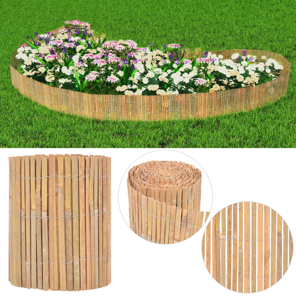 vidaXL Zahradní plot, bambus, 1000x30 cm
