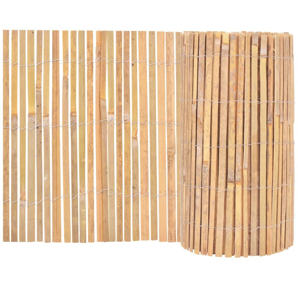 vidaXL Bambusový plot 1000x50 cm