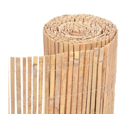 vidaXL Gartenzaun Bambus 1000×50 cm[2/6]