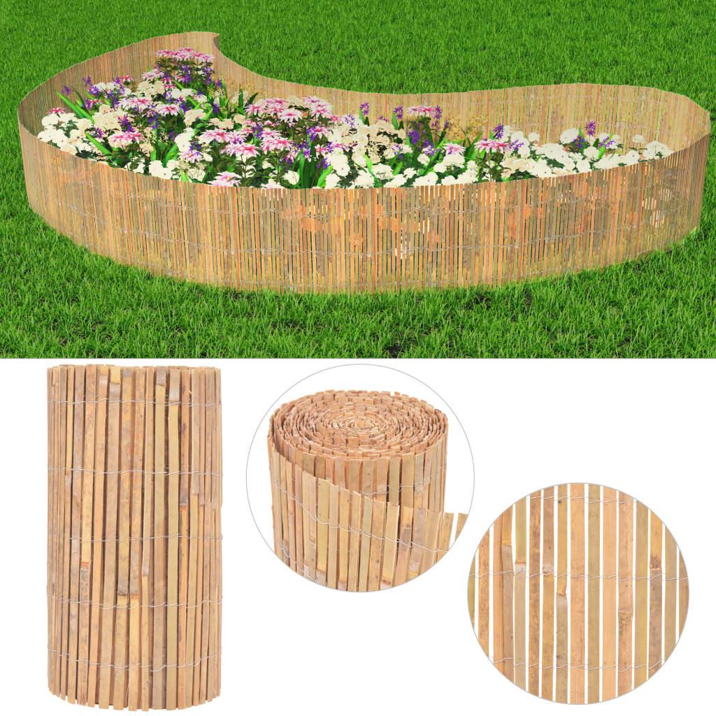 vidaXL Zahradní plot, bambus, 1000x50 cm