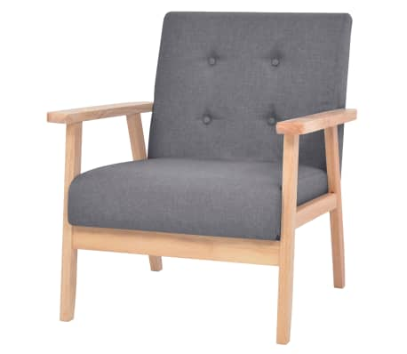 vidaXL Armchair Dark Grey Fabric[1/7]