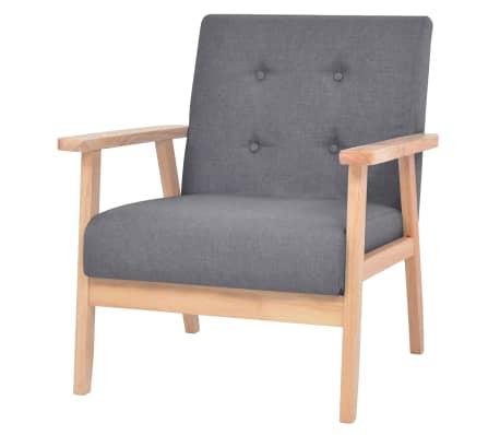 vidaXL Fotelja od tkanine tamnosiva