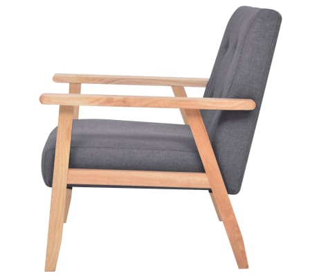 vidaXL Armchair Dark Grey Fabric[3/7]