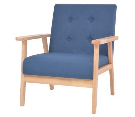 acheter vidaxl fauteuil tissu bleu pas cher. Black Bedroom Furniture Sets. Home Design Ideas