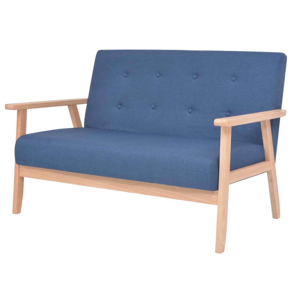 2místná sedačka textil modrá