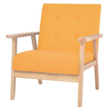 vidaXL Fotel tapicerowany, żółty[1/7]
