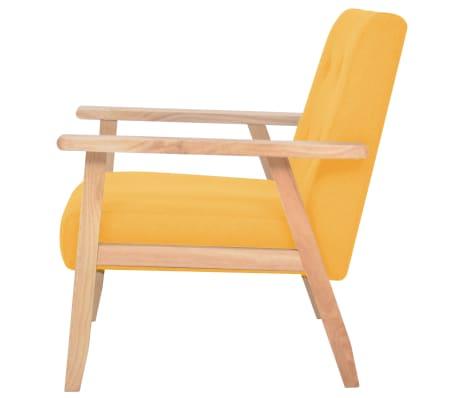 vidaXL Fotel tapicerowany, żółty[3/7]