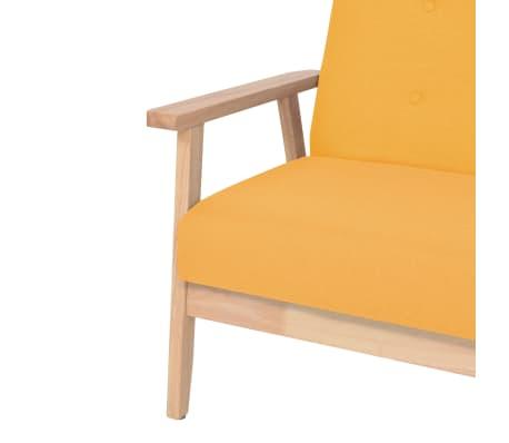 vidaXL Fotel tapicerowany, żółty[4/7]