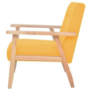 vidaXL Πολυθρόνα Κίτρινη Υφασμάτινη[3/7]