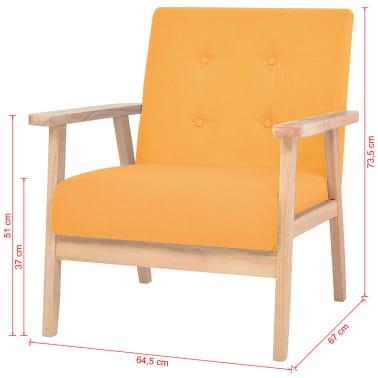 vidaXL Fotel tapicerowany, żółty[7/7]