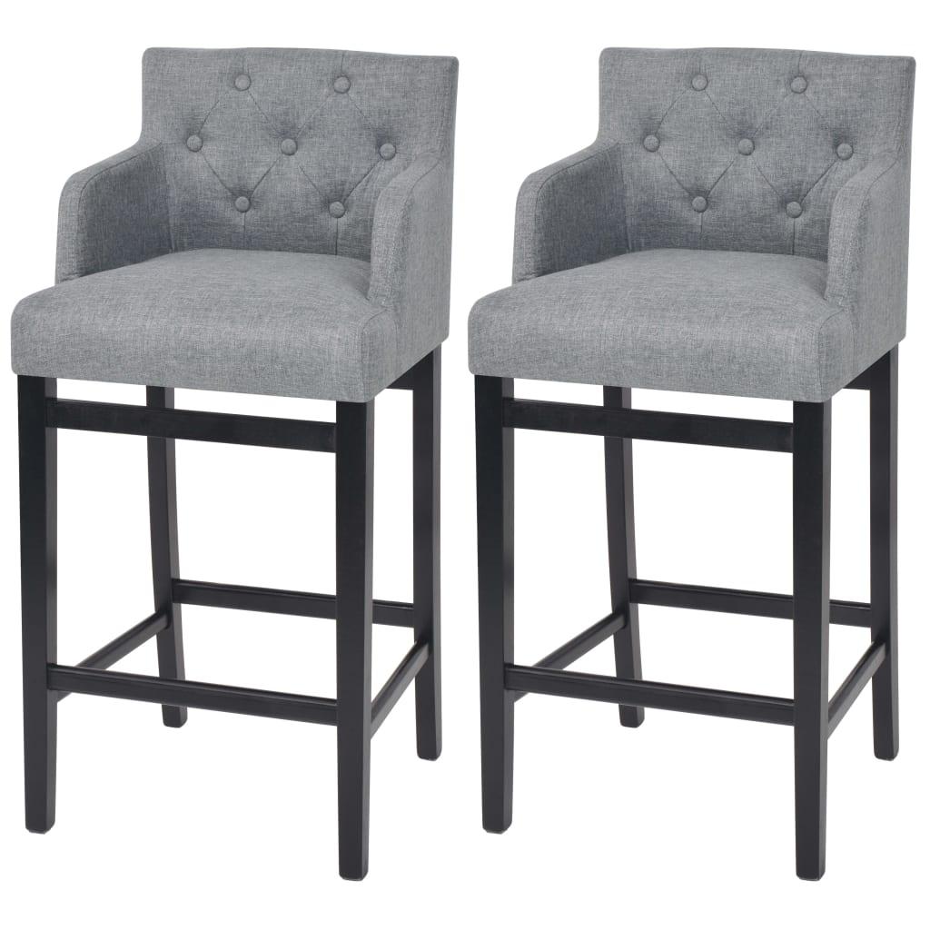 vidaXL Barová stolička 2 ks, textil, světle šedá, 50x47x103 cm
