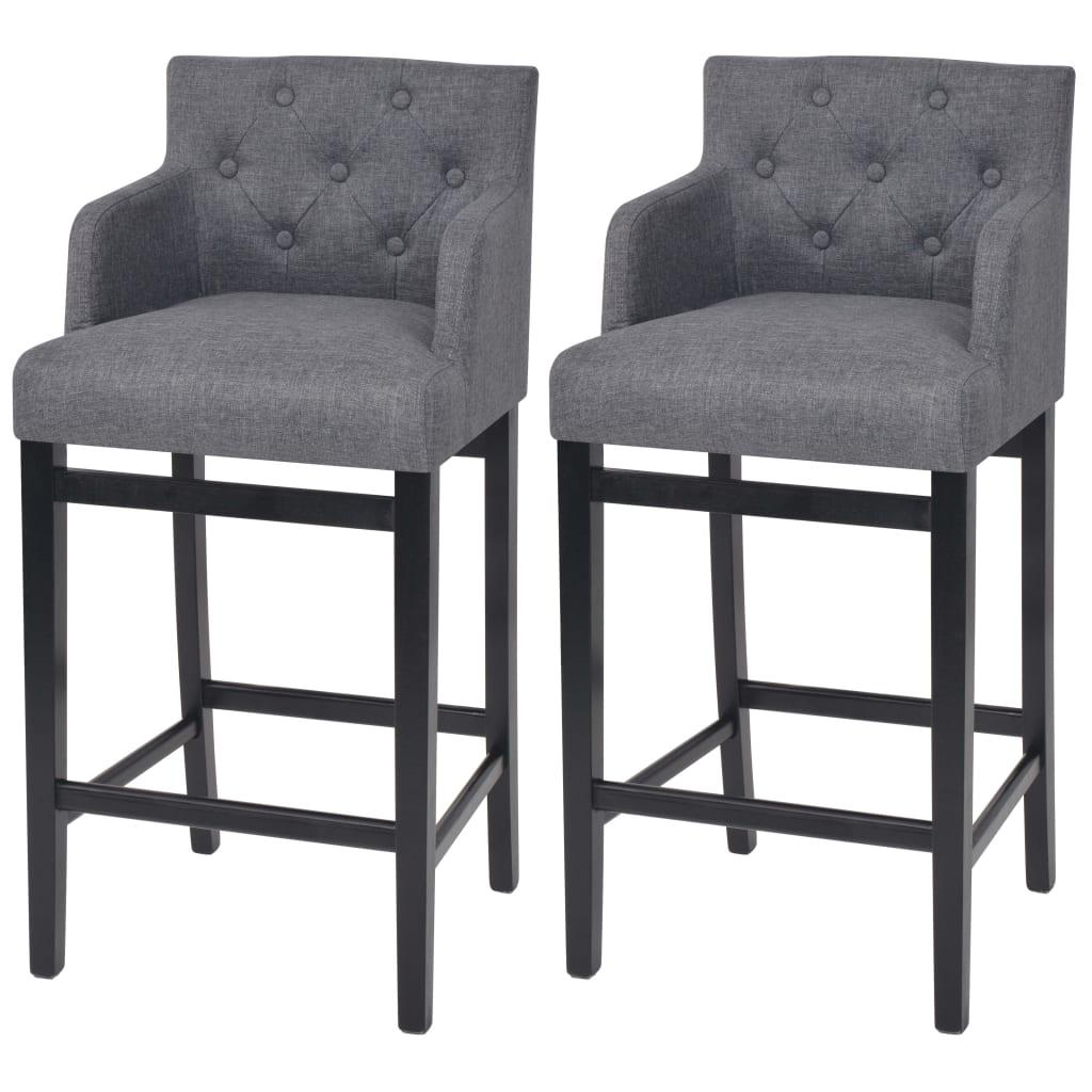 vidaXL Barová stolička 2 ks, textil, tmavě šedá, 50x47x103 cm