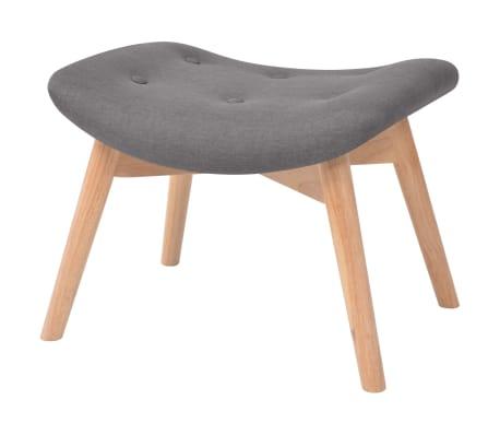 acheter vidaxl fauteuil avec repose pied tissu gris pas cher. Black Bedroom Furniture Sets. Home Design Ideas