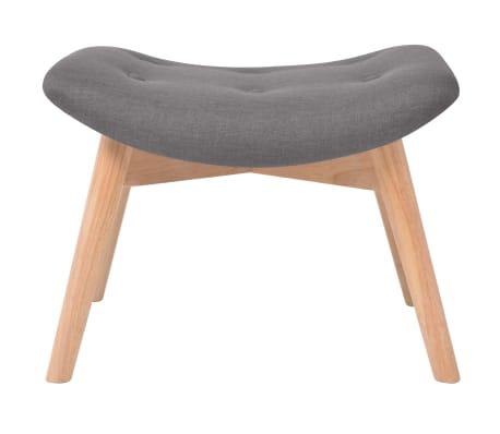 vidaXL Armchair with Footstool Fabric Grey[7/10]
