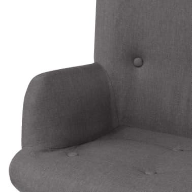 vidaXL Armchair with Footstool Fabric Grey[4/10]