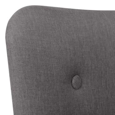 vidaXL Armchair with Footstool Fabric Grey[5/10]