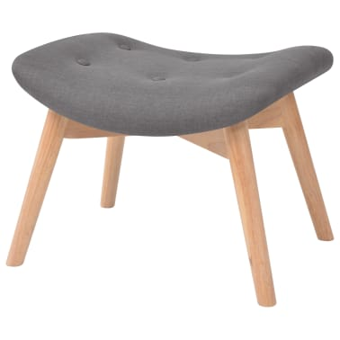 vidaXL Armchair with Footstool Fabric Grey[6/10]