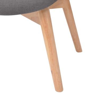 vidaXL Armchair with Footstool Fabric Grey[8/10]