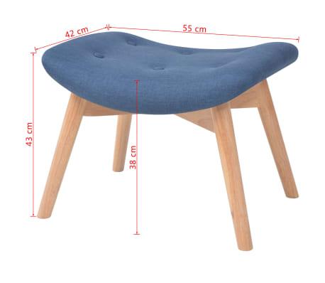 acheter vidaxl fauteuil avec repose pied tissu bleu pas cher. Black Bedroom Furniture Sets. Home Design Ideas